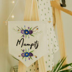 bestickter Wimpel – Mumpitz