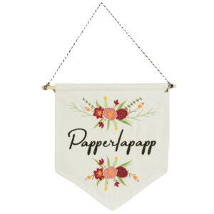 bestickter Wimpel – Papperlapapp