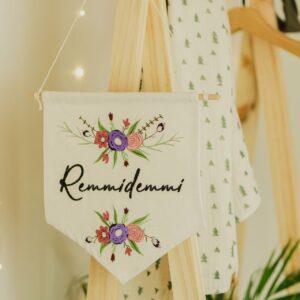 bestickter Wimpel – Remmidemmi
