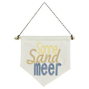 bestickter Wimpel – Sonne, Sand, Meer