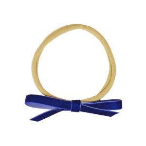 Babyschleife – königsblau Samt