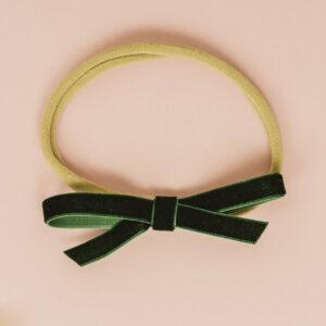 Babyschleife – smaragdgrün Samt