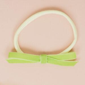 Babyschleife – apfelgrün Samt