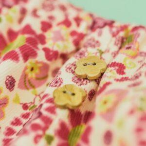 Bloomers – Cord – Blumen grün