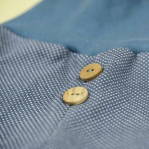 Jacquardhose – Punkte – jeansblau