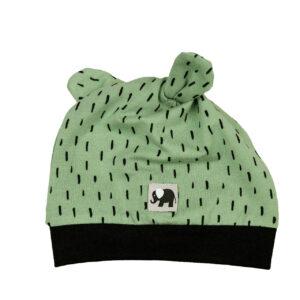 Knotenmütze – Striche – meeresgrün