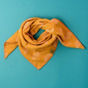 Musselintuch – Muscheln – rostorange – Kind