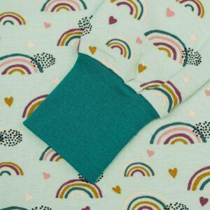 langarm Tunika – Regenbogen – mitternachtspetrol