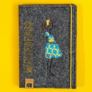 Mutterpass-Hülle – Babybauch – gelb