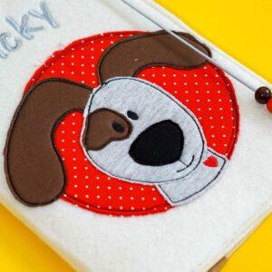 Uheft-Hülle – Hundekopf – Vicky
