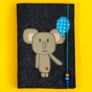 Uheft-Hülle – Koala – blau