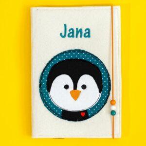 Uheft-Hülle – Pinguinkopf – Jana